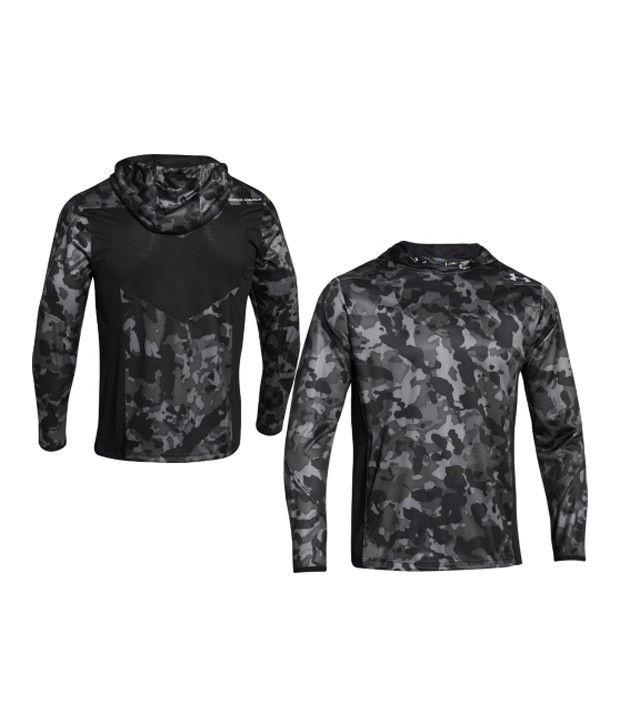 Under Armour Under Armour Men's Undeniable Heatseeker Shooting Hooded Long Sleeve Shirt, Black/black/steel