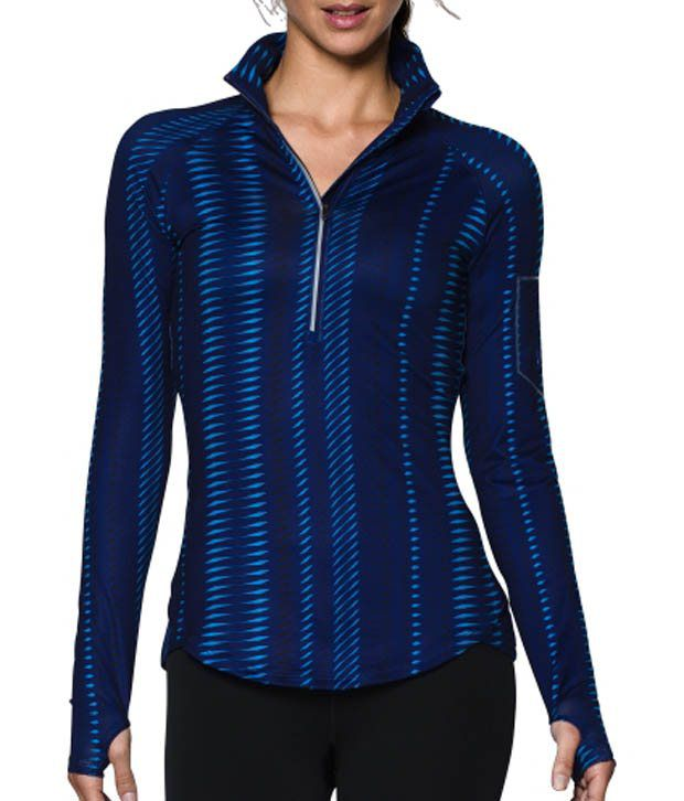 Under Armour Under Armour Women's Fly Fast Printed Half Zip Long Sleeve Shirt, Black Sonic Stripe