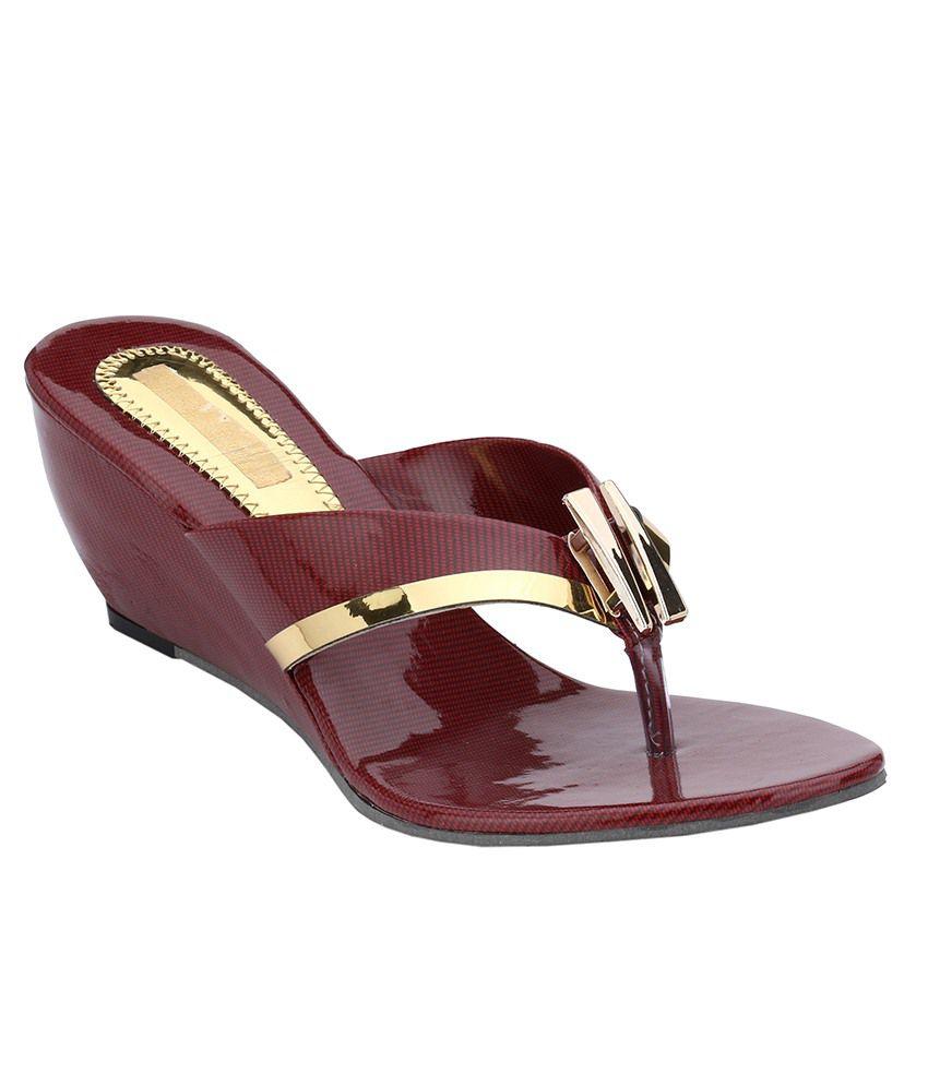 Nickolas Maroon & Golden Heels