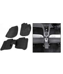 Autotrends Black Car Floor Mat For Honda Amaze