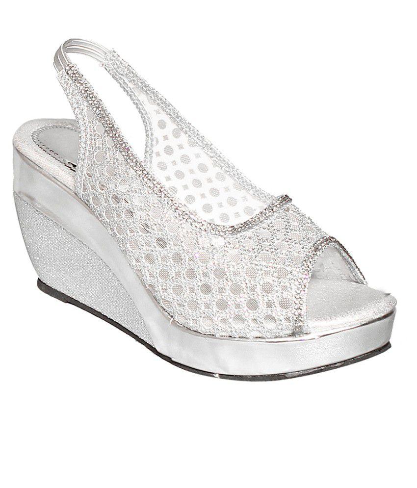 Baba Enterprises Silver Heeled Sandals