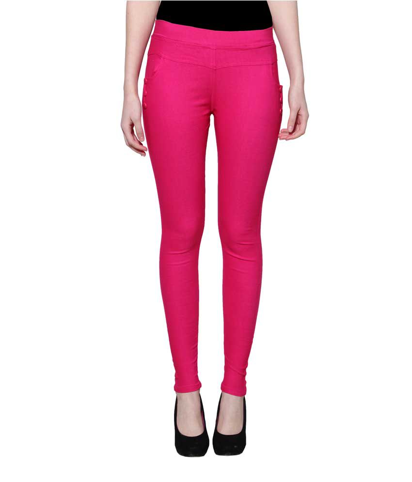 Lgc Pink Poly Cotton Jeggings