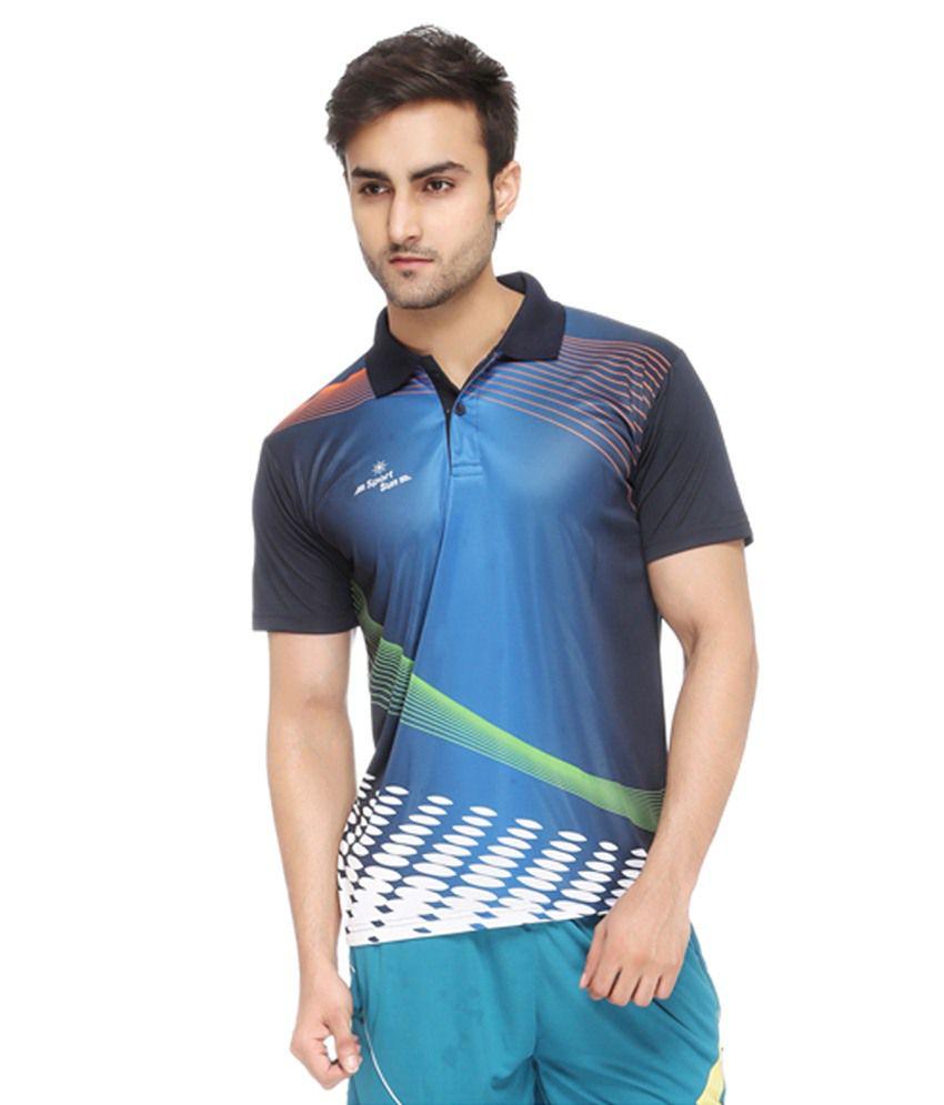 Sport sun multicolour half sleeve polo t shirt buy sport for Full sleeve polo t shirts