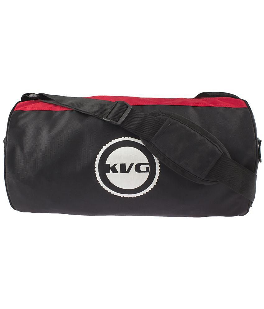 19ef8a185b00db Kvg Black & Red Gym Bag - Buy Kvg Black & Red Gym Bag Online at Low Price -  Snapdeal