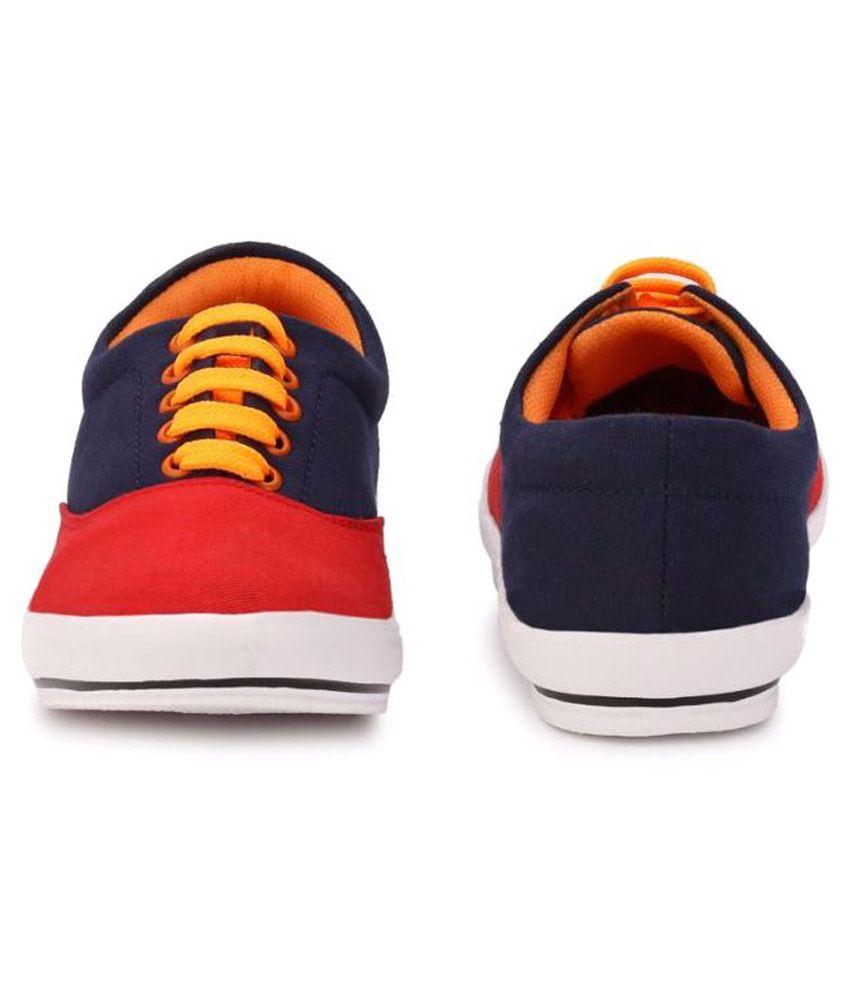 menfolks red sneaker shoes  buy menfolks red sneaker