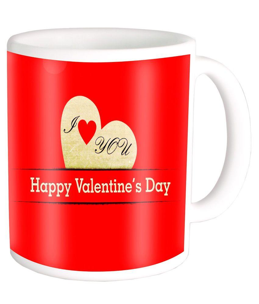 Photogiftsindia Valentines Day Special Red Ceramic Coffee Mug Buy