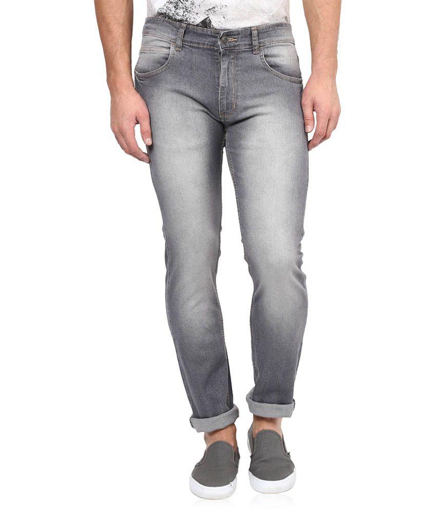 The Colors Grey Cotton Regular Fit Jeans
