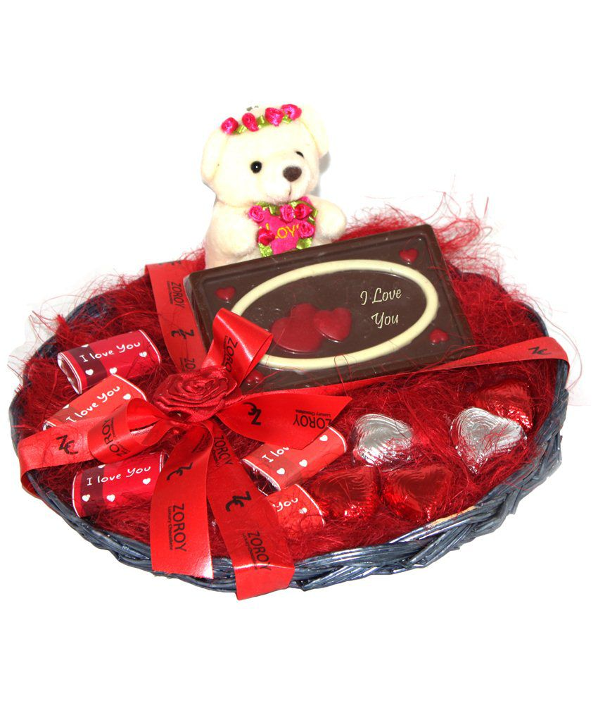 Zoroy Chocolate Basket Valentine chocolate gift 150 gm