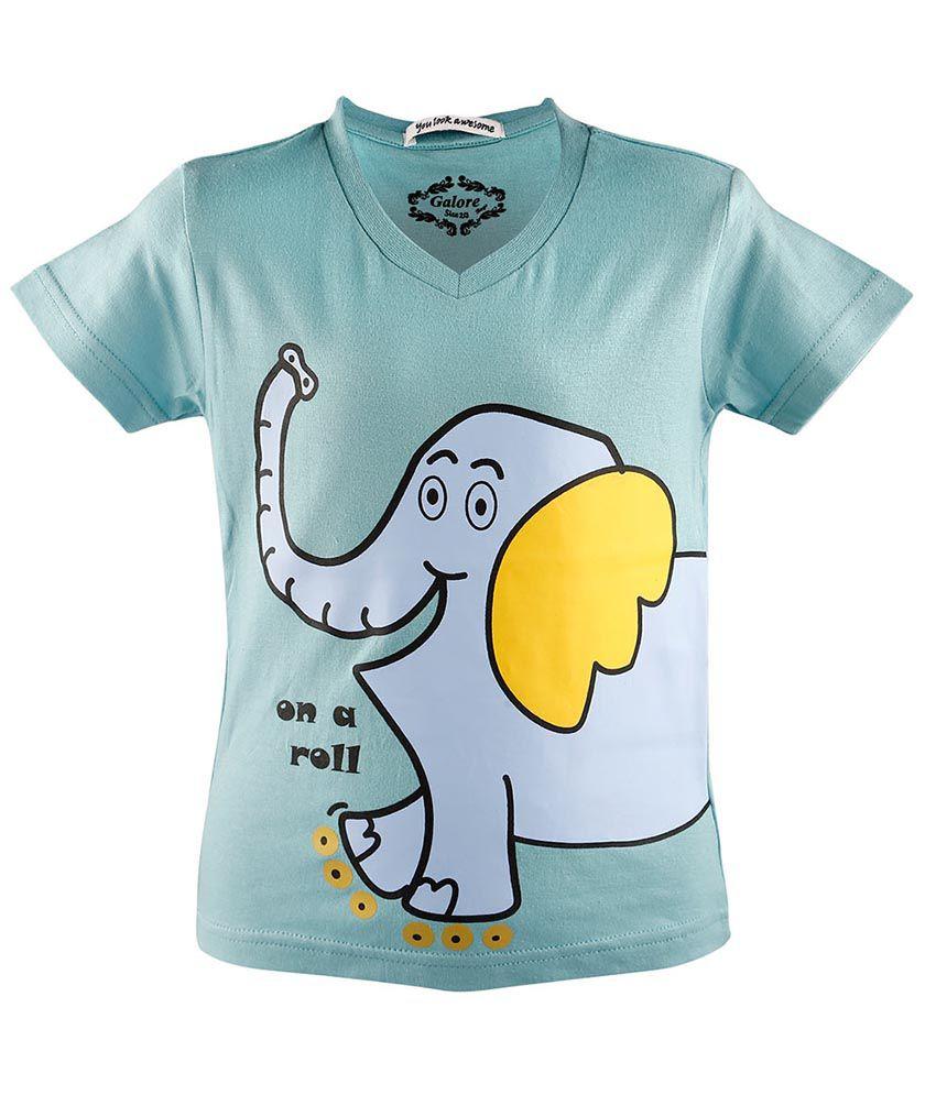 Galore Green Cotton T-Shirt