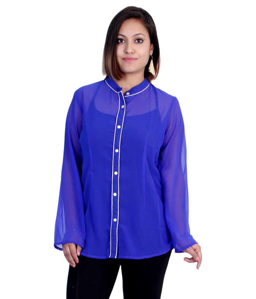 26e7b2343f88 Buy Indicot Purple Poly Georgette Shirts Online at Best Prices in India -  Snapdeal