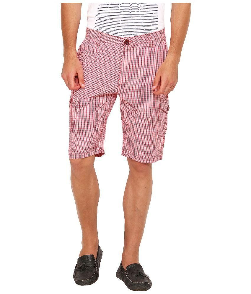 Wajbee Pink Cotton Shorts