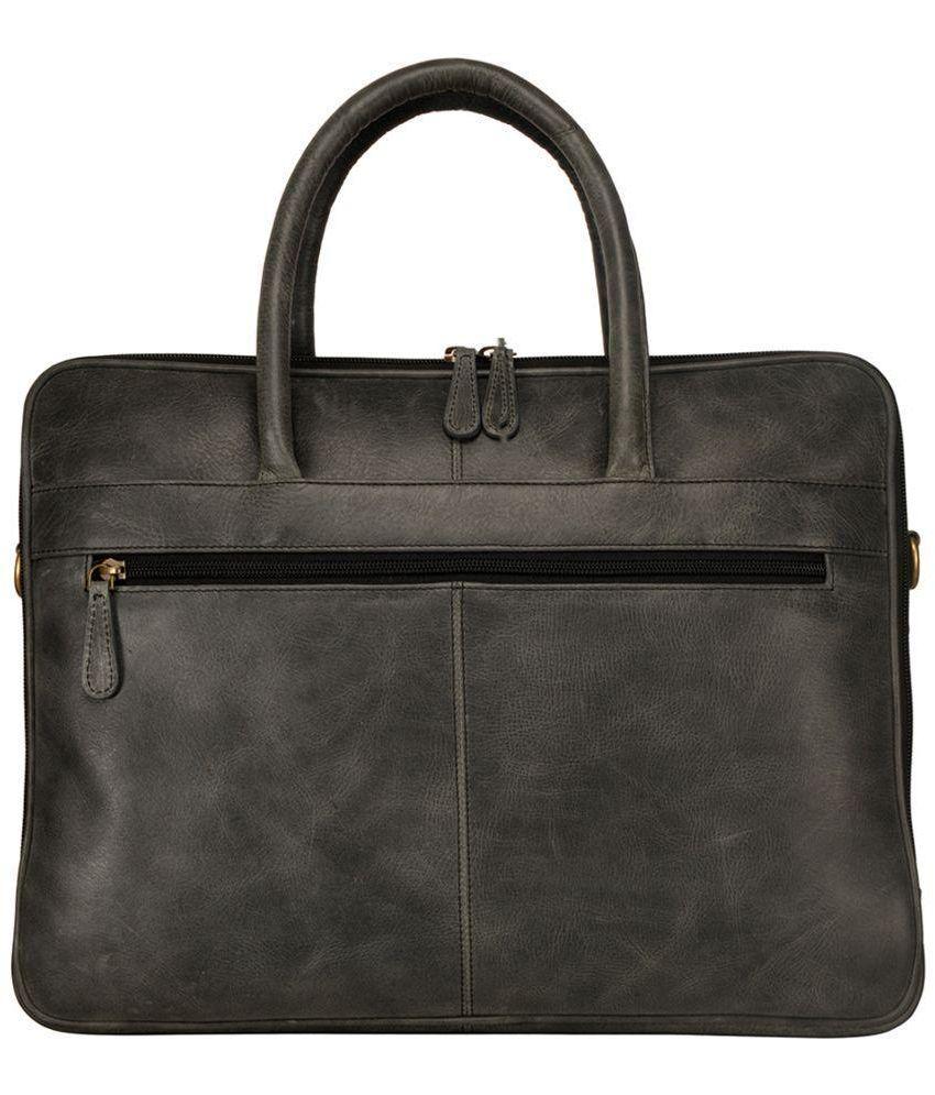 Justanned Grey Laptop Bag