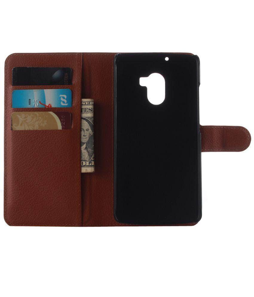 Home Flip Leather Wallet Case Cover For Lenovo K4 Note Brown Intl Taslar .