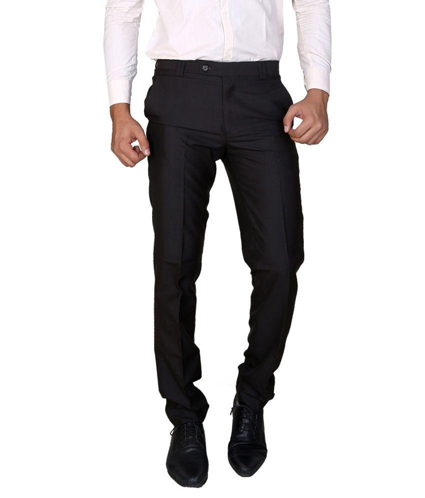 Boy Adam Black Slim Fit Formal Trouser