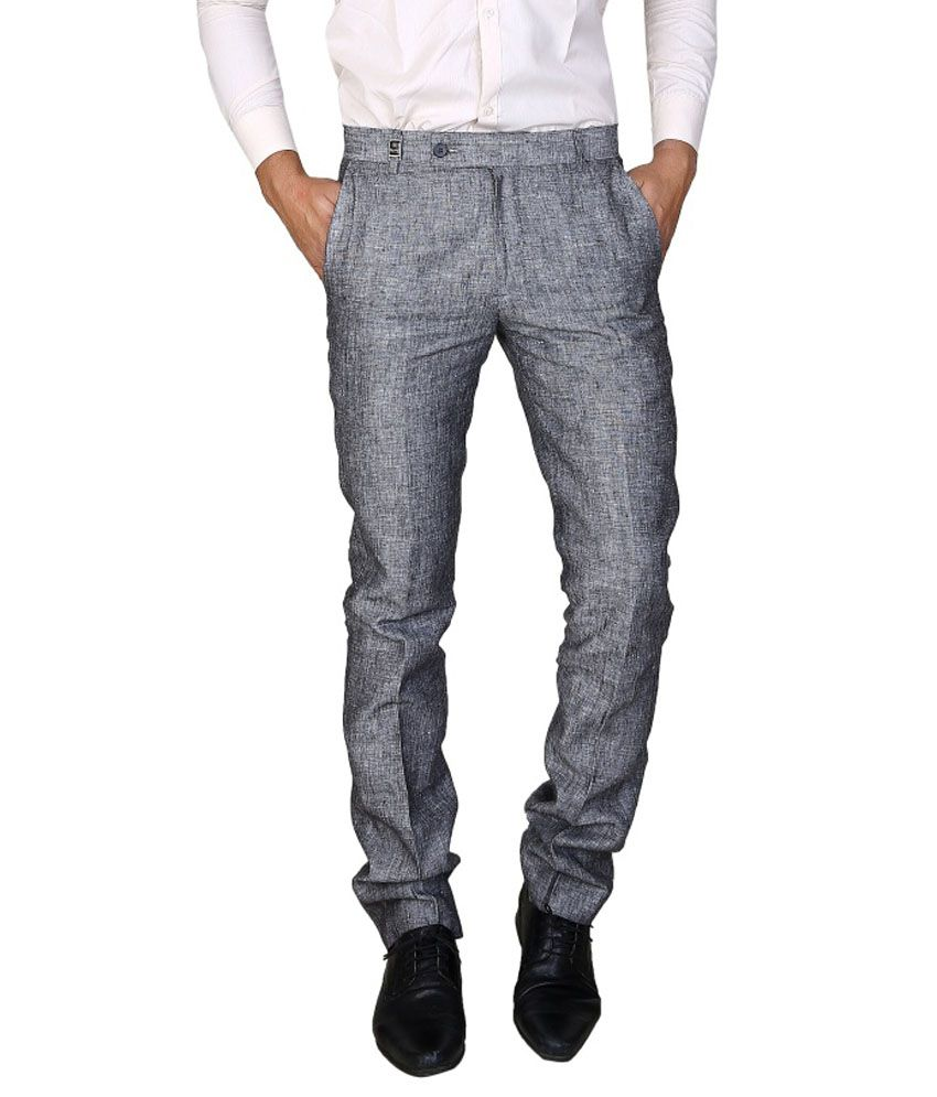 Boy Adam Grey Slim Fit Formal Trouser