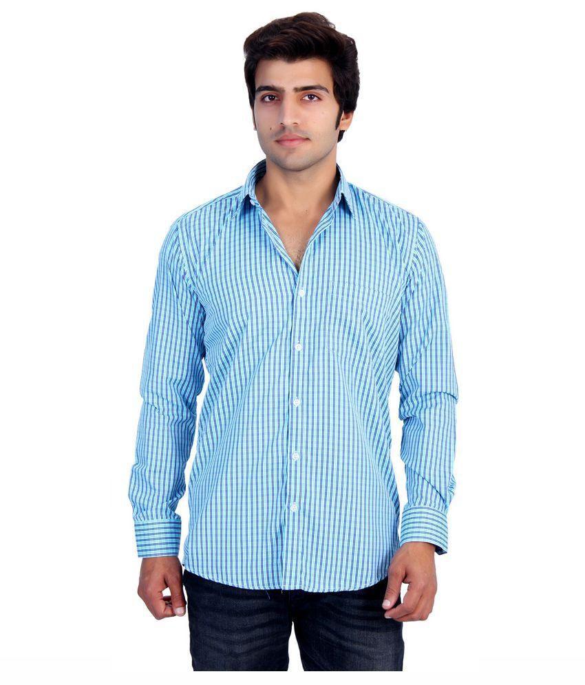 25th R Blue Casual Shirt