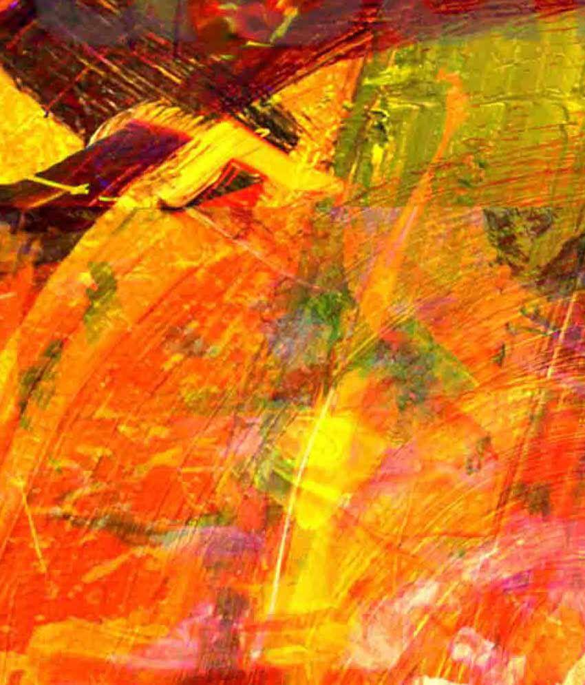 Mayasabha Abstract Canvas Print With Frame
