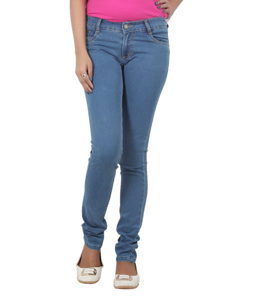 7a4f42e05f40e7 Buy Obeo Blue Denim Jeans Online at Best Prices in India - Snapdeal