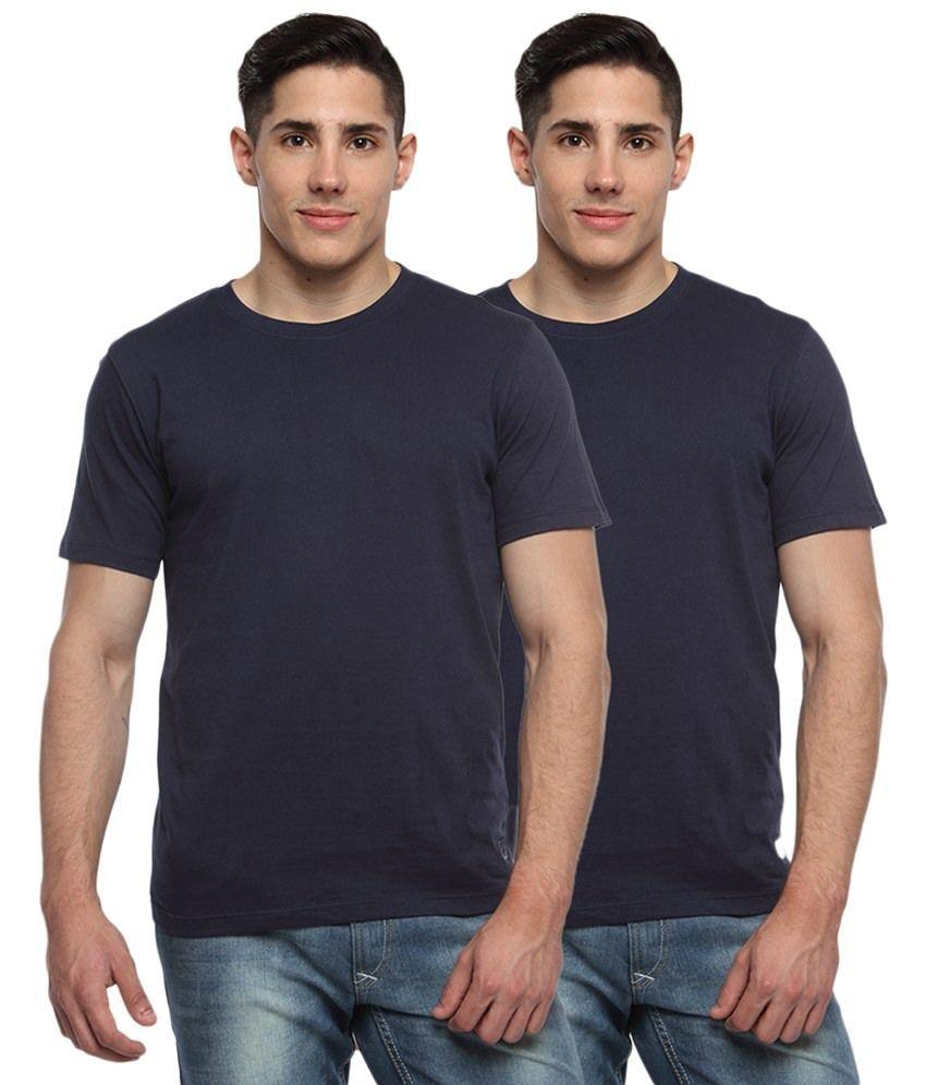 Robinhood Navy Cotton T-shirt