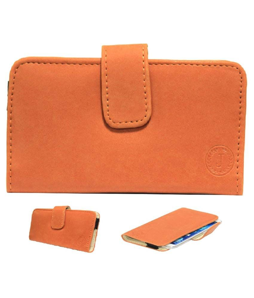 Jo Jo Mobile Pouch Cover For Lava Iris 370-orange