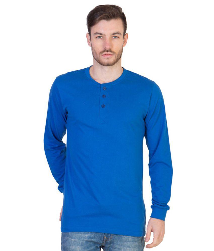 Acomharc Inc Blue Cotton T- Shirt