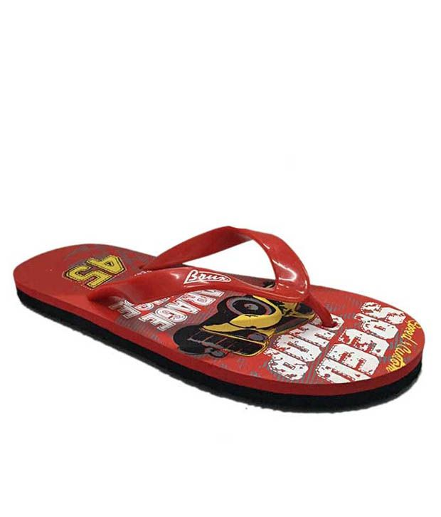 98860a7984ab Brux Red Slippers Flip Flops available at SnapDeal for Rs.149