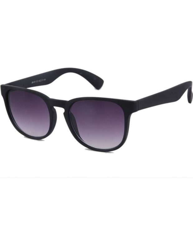 Joeblack Purple Medium Unisex Wayfarer Sunglasses