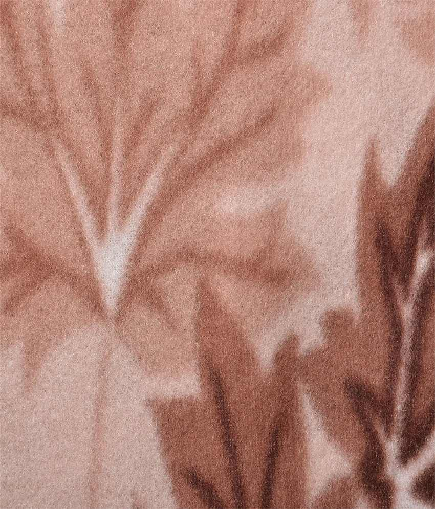 Brown bed sheet textures -  Feathers Queen Poly Fleece Brown Floral Bed Sheet