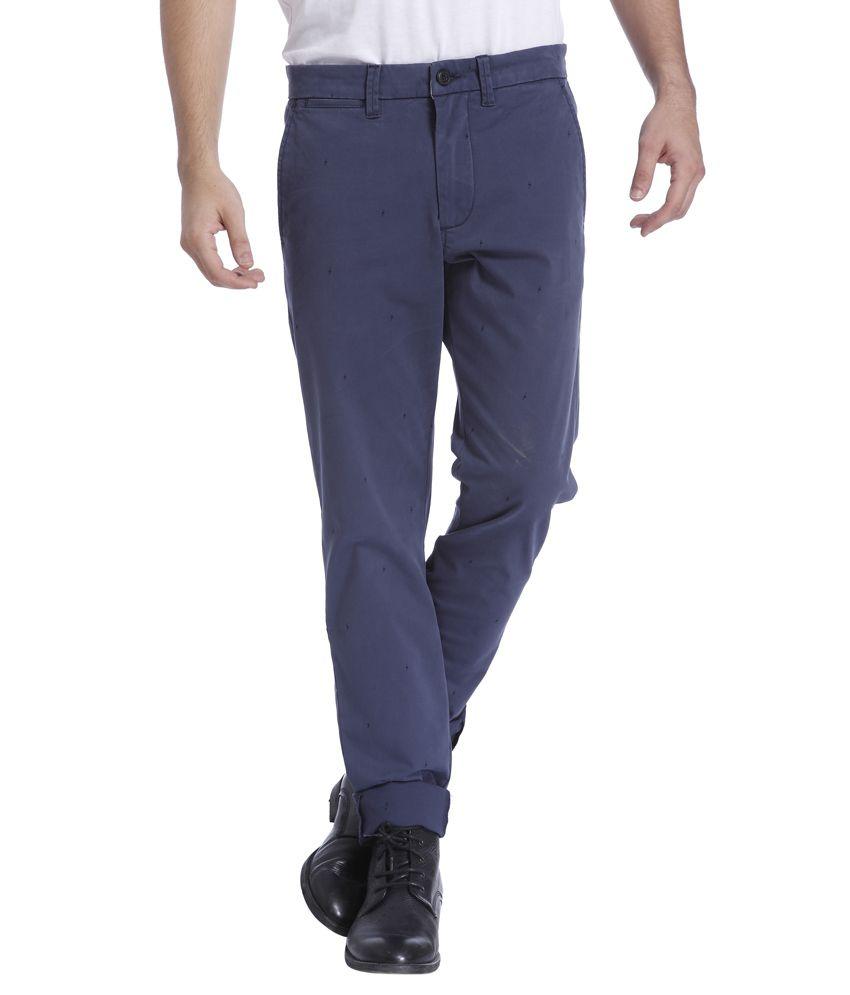 Jack & Jones Navy Slim Fit Casual Trousers