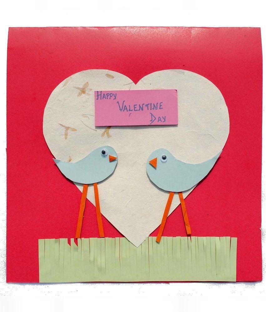 RMantra Handmade Valentine card - Love Birds