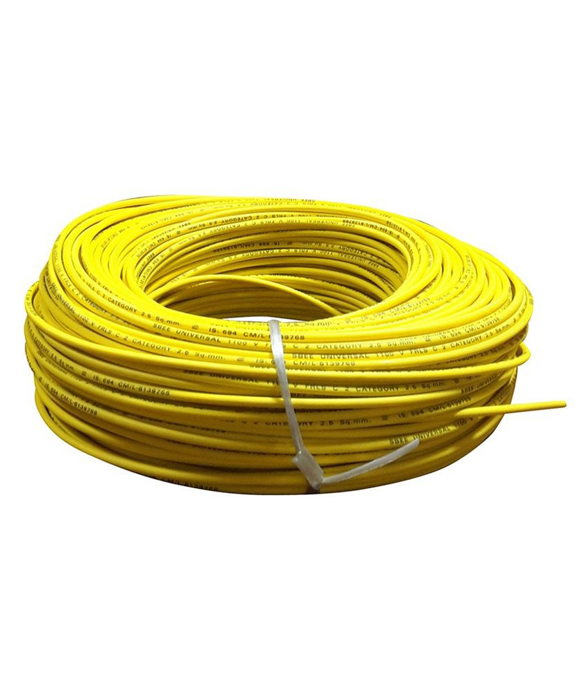 Buy Duplex Yellow Pvc Insulated Cable Wire - 1.50mm Online ...
