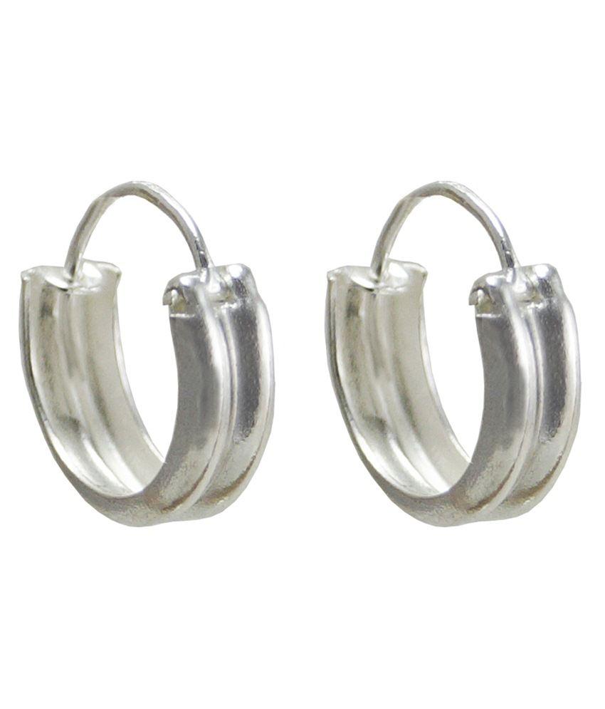 Jewelry Place Silver Hoop Earrings