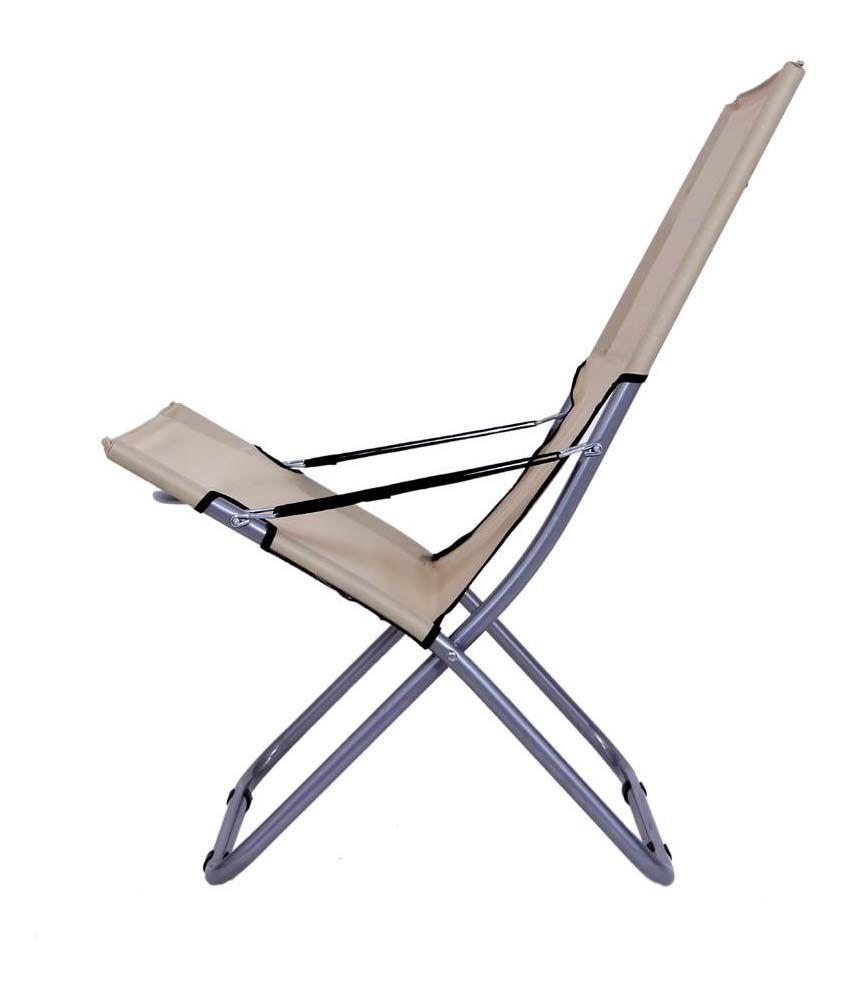 2e82a377d05 Folding Easy Chair in Beige - Buy Folding Easy Chair in Beige Online ...