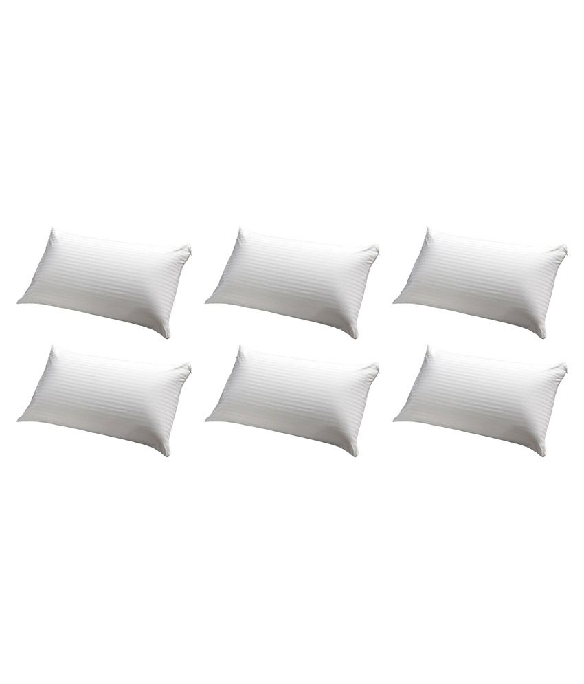 Jdx White Pillow Pack Of 6