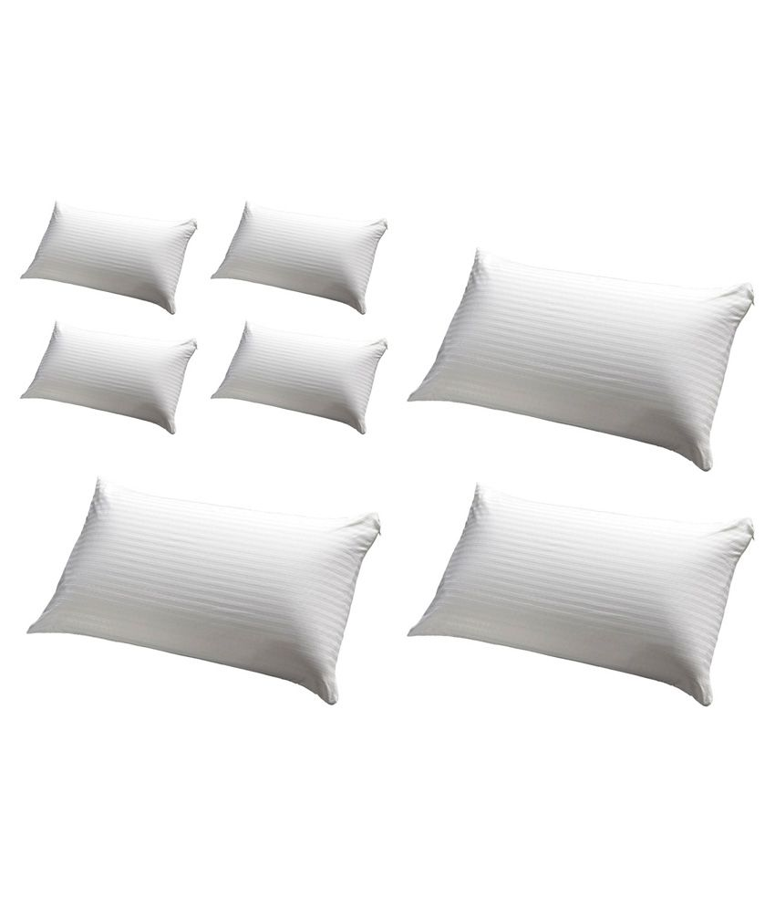 Jdx White Pillow Pack Of 7