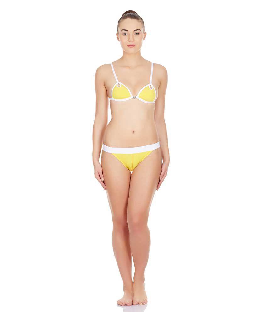 La Intimo Yellow Lycra Panties