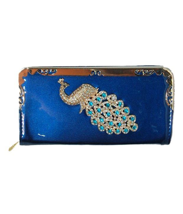 Anahi Blue Regular Wallet