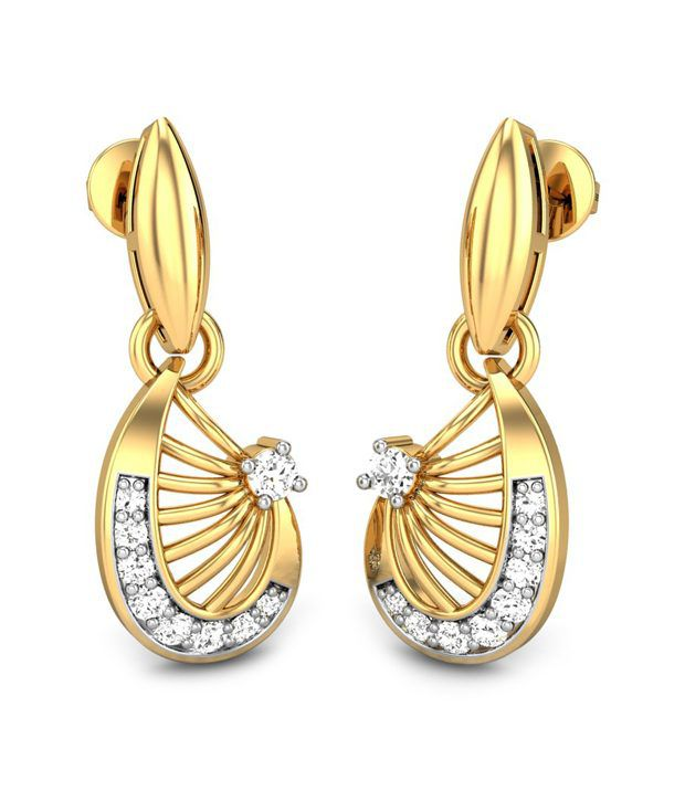 Candere Livia Diamond Earring 14k Yellow Gold