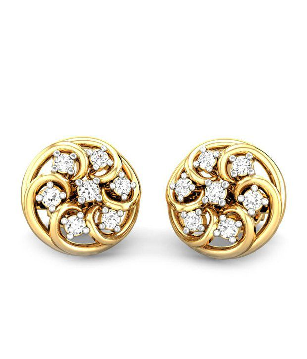Candere The Windcham Diamond Earring 14k Yellow Gold