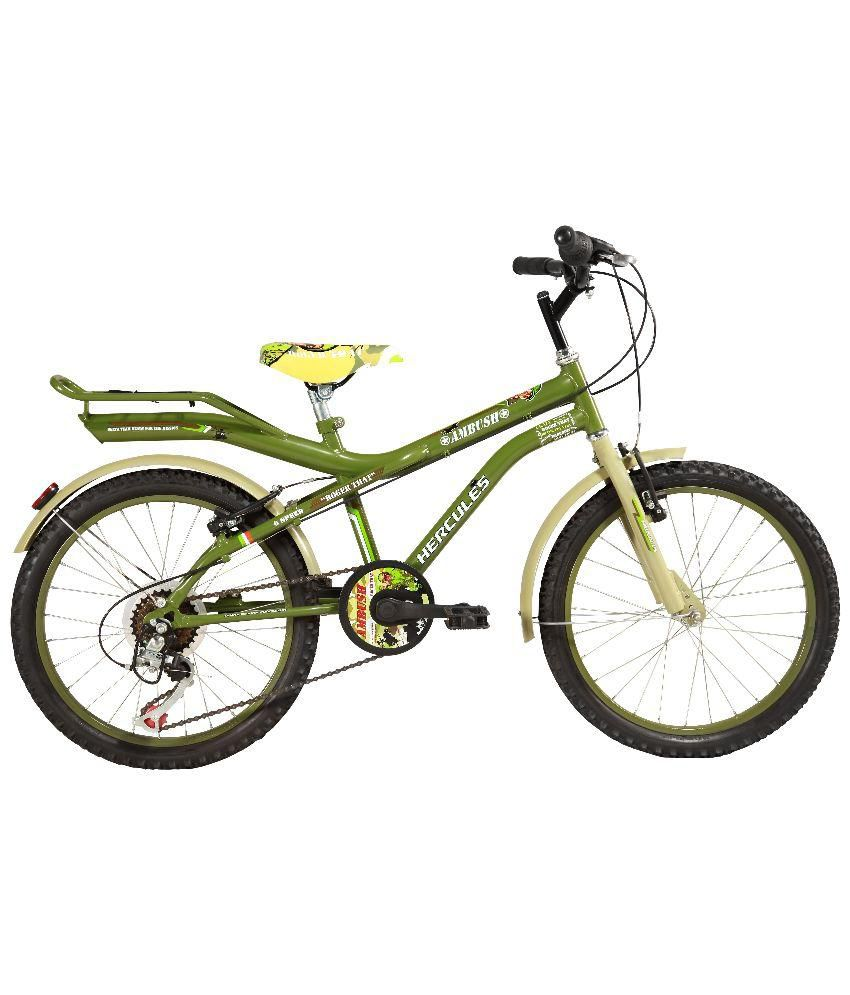 Hercules Green Ambush 6 Speed Bicycle  available at snapdeal for Rs.6119
