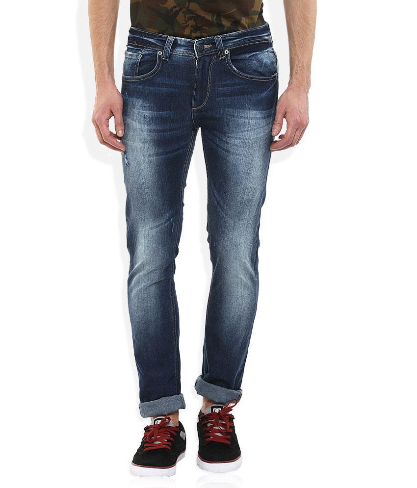 Spykar Blue Slim Fit Jeans