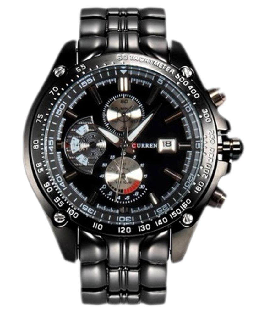 Curren Black Analog Chronograph Watch