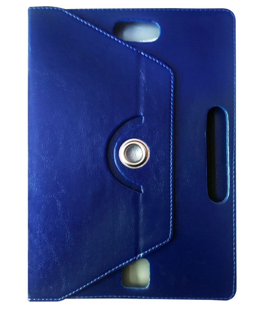 Fastway 360 Degree Rotating Tablet Book Cover For Bsnl Champion Wtab 971 - Blue
