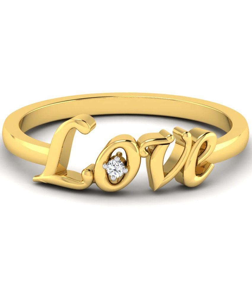 Kataria Jewellers Valentines Love Certified Diamond Ring in 14kt BIS Hallmarked Gold