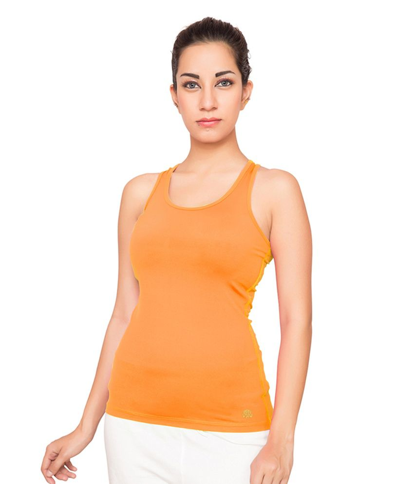 Foreveryoga Orange Racer-back Tank Top