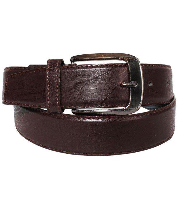 Klaska Fashionable Brown Formal Belt For Men