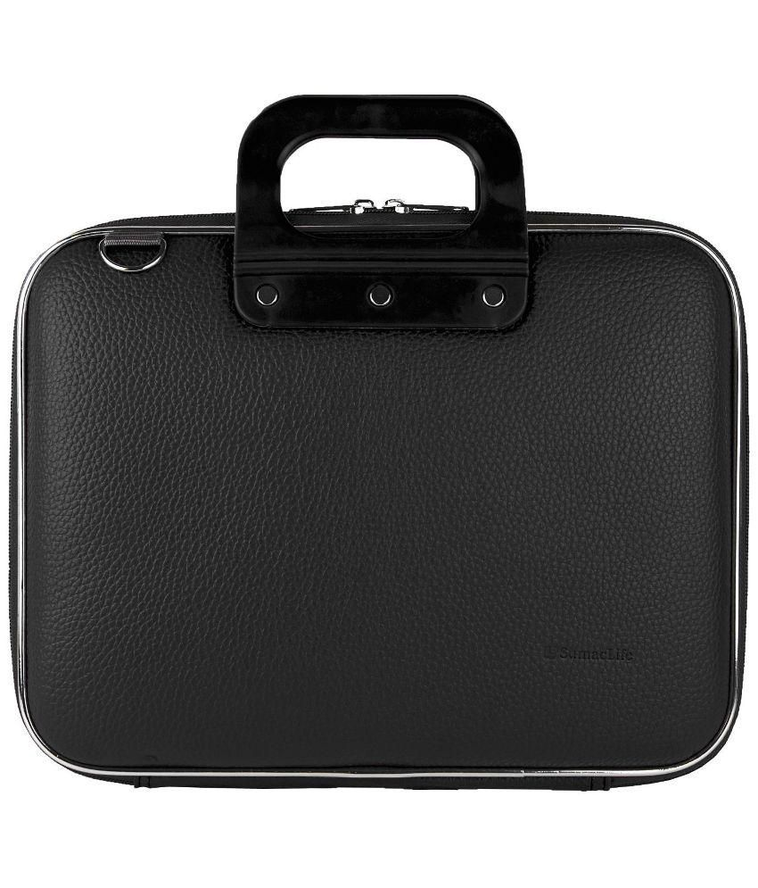 Homesmart Black Leather Laptop Bag