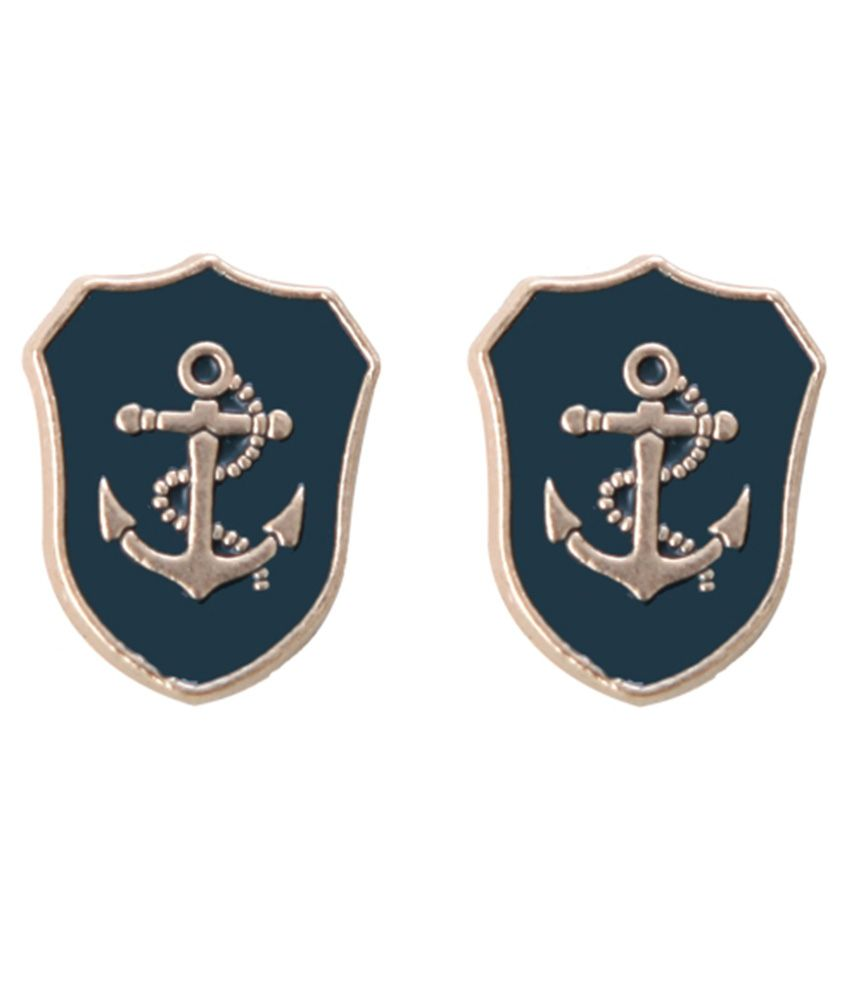 Beautiful Outdazzle Designer Anchor Lapel Pin For Men  Set Of 2