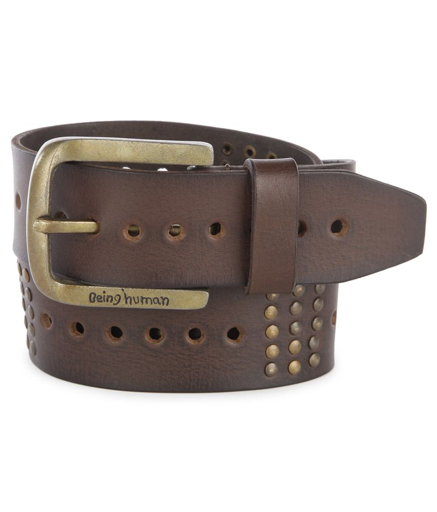 3456a932141 Being Human Tan Belt  Buy Online at Low Price in India - Snapdeal