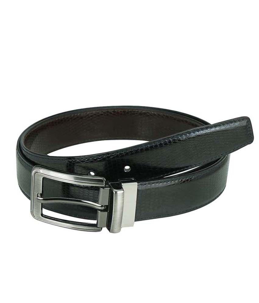 Celladorr Black Non Leather Formal Belt For Men